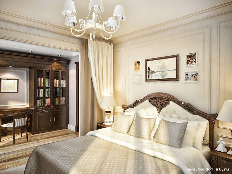 Фото дизайна спальни в классическом английском стиле
