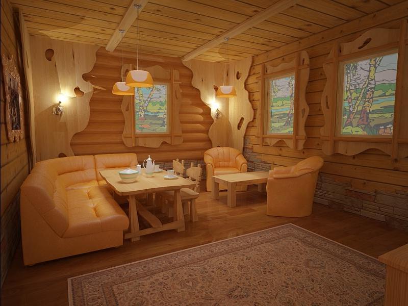 Дизайн интерьера бани с