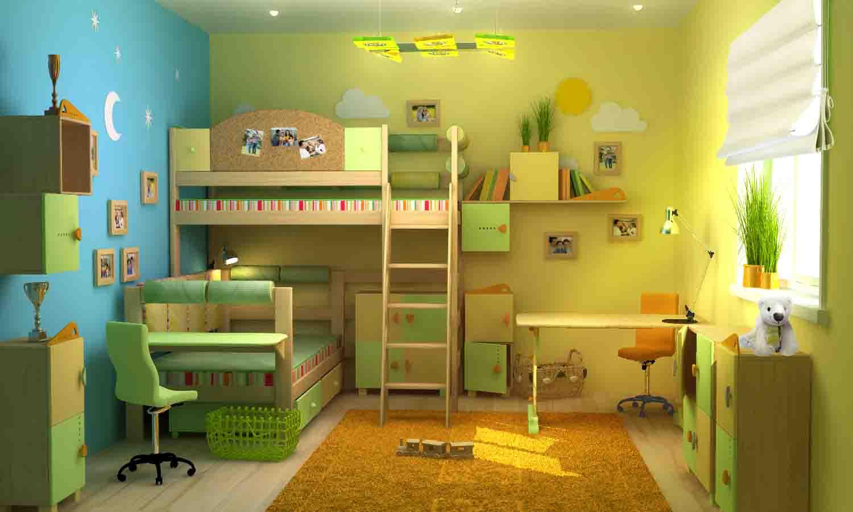 Интерьер детских для двоих детей