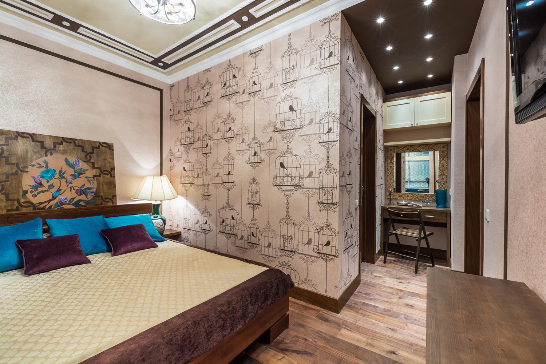 Дизайн спальни 20 метров с гардеробной