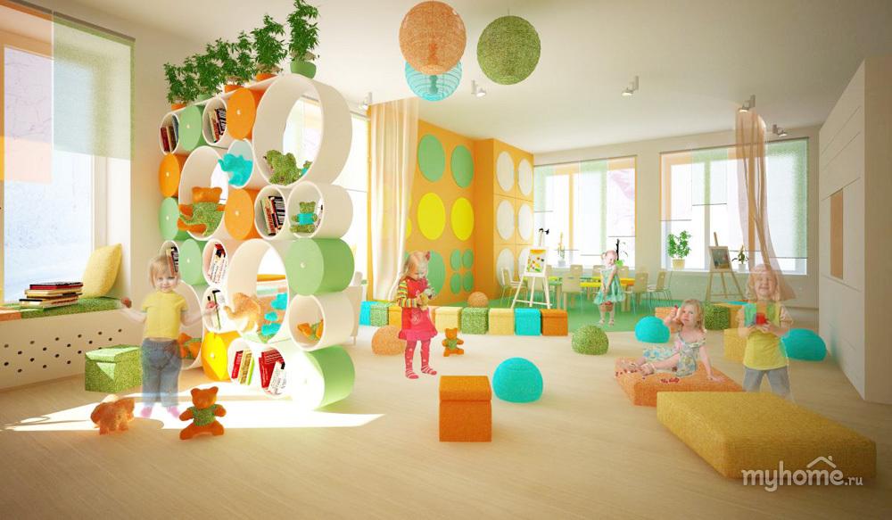 Дизайн групповых комнат в детском саду