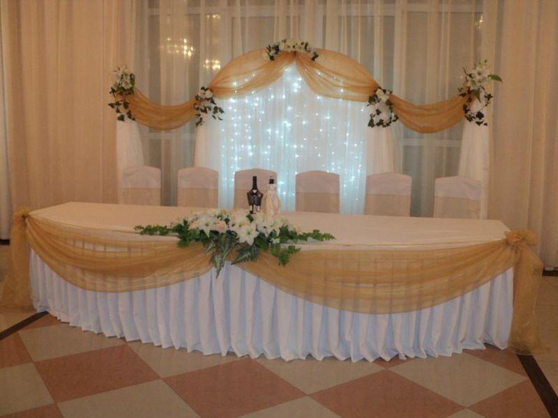 """Свадебное оформление зала тканью своими руками """" Картинки и фотографии дизайна квартир, домов, коттеджей"""