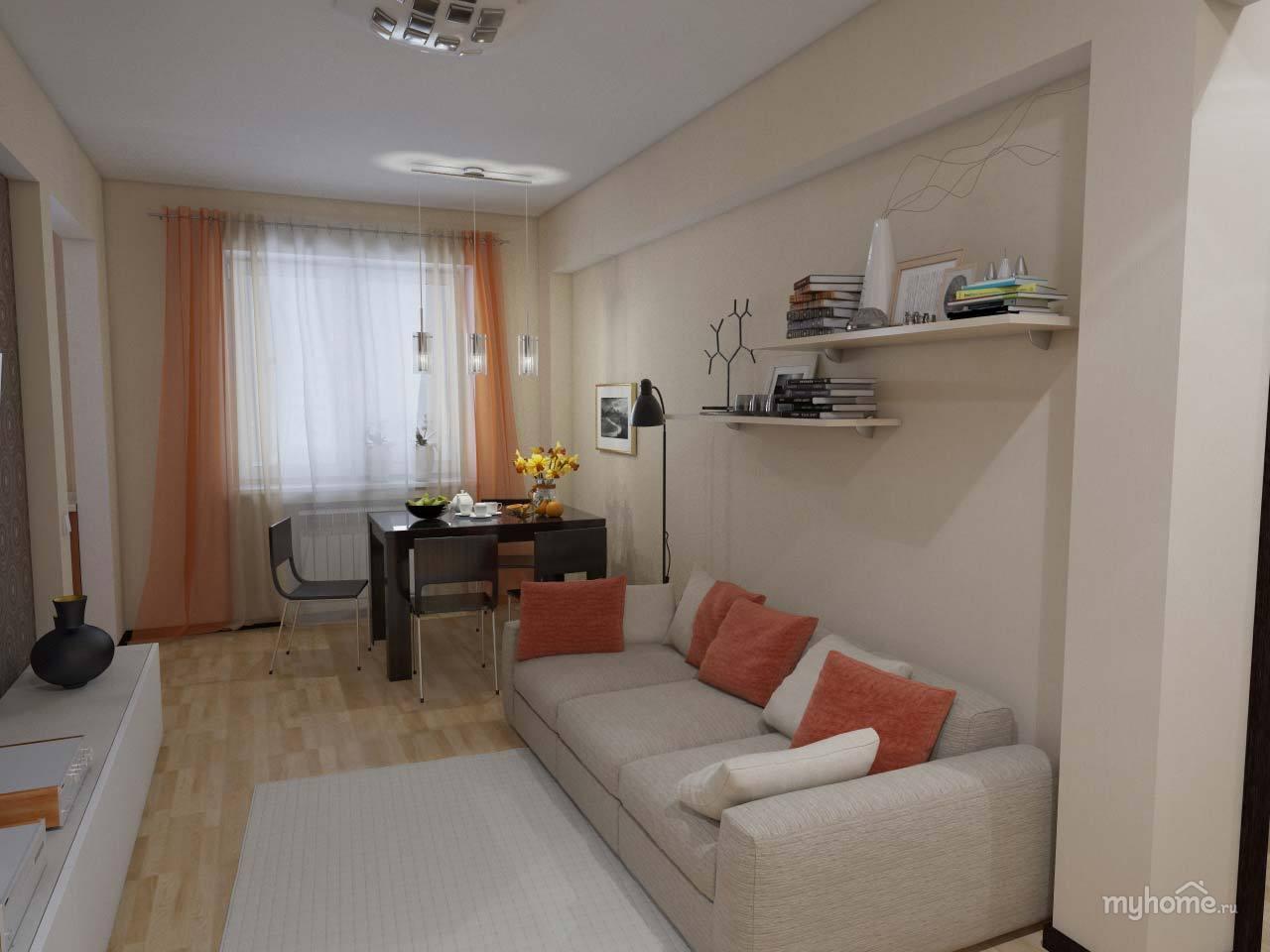 Дизайн комнаты 19 метров в однушке