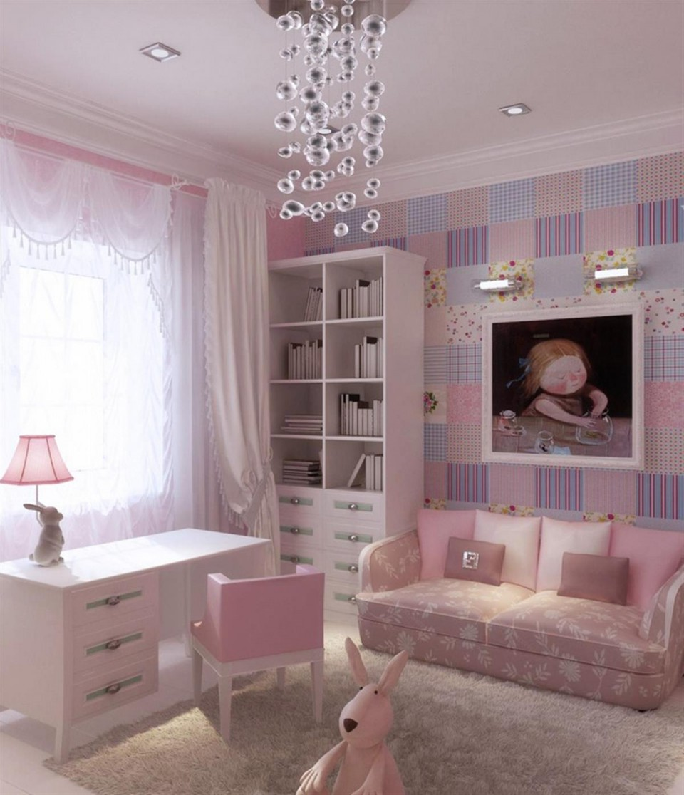 Интерьер комнаты для девочки фото