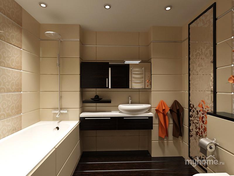 Дизайн ванной комнаты 6 кв м с туалетом