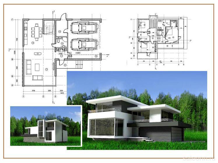 Выполнить дизайн проект загородного дома