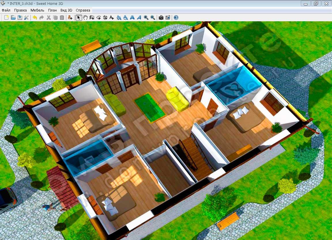 Как сделать 3d модель дома