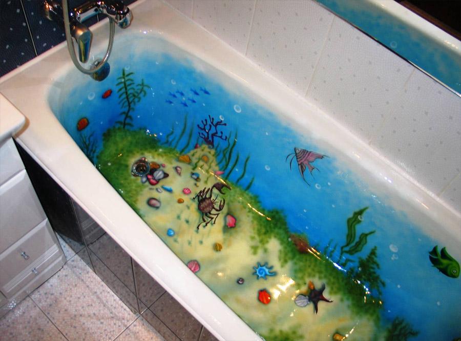 Декор своими руками в ванной комнате фото