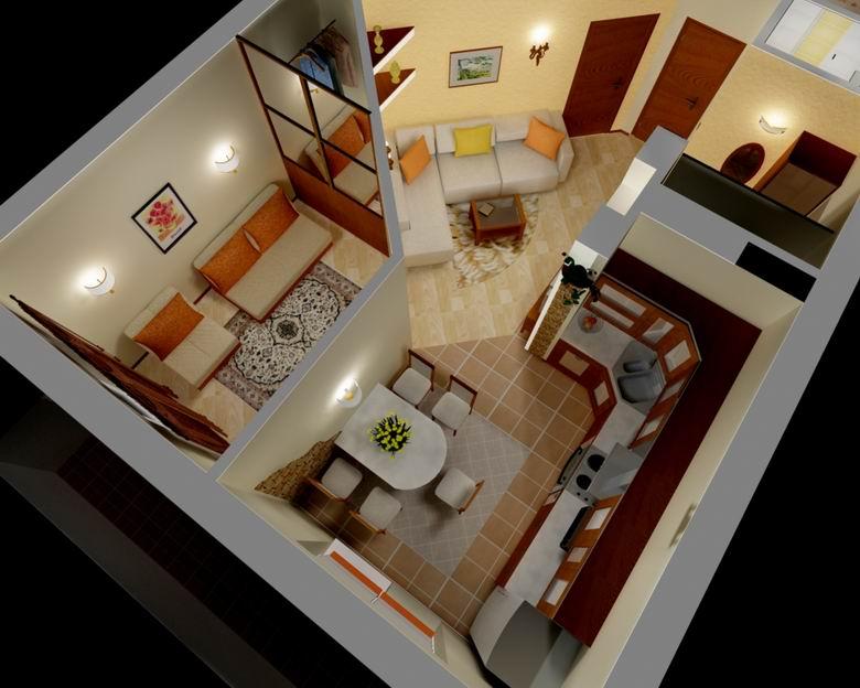 Как сделать из однокомнатной квартиры трехкомнатную квартиру