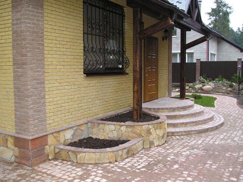 дизайн фото крыльца загородного дома