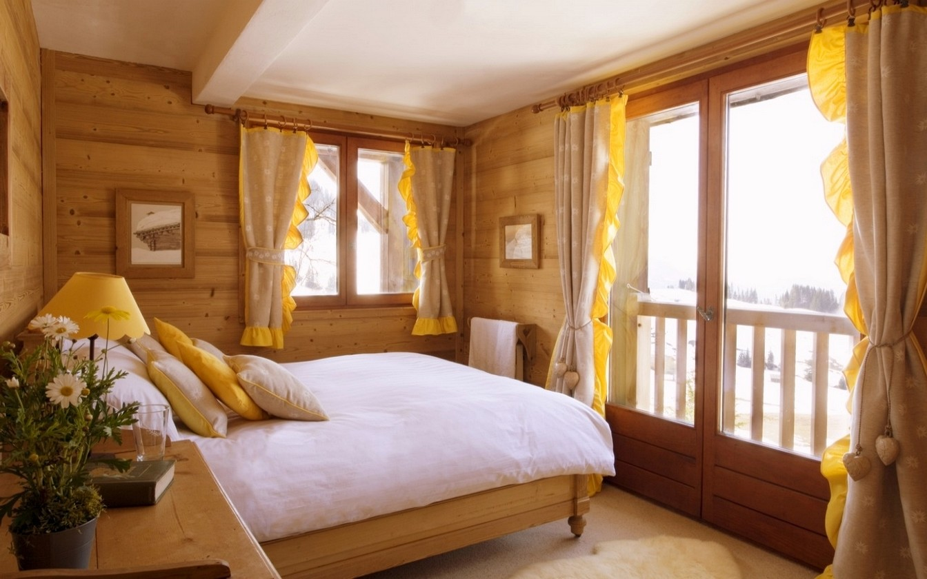 Фото спальни дизайн для загородного дома
