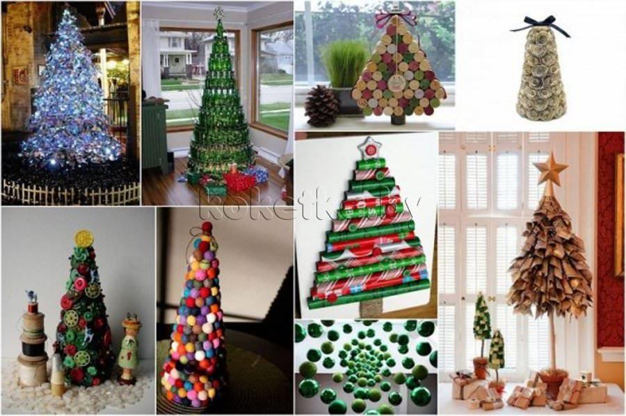 Домашние украшения к новому году своими руками