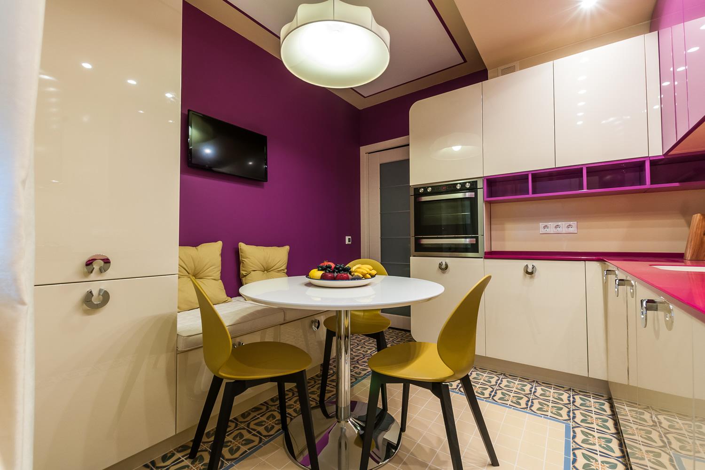 Стильный дизайн кухни 11 кв.м