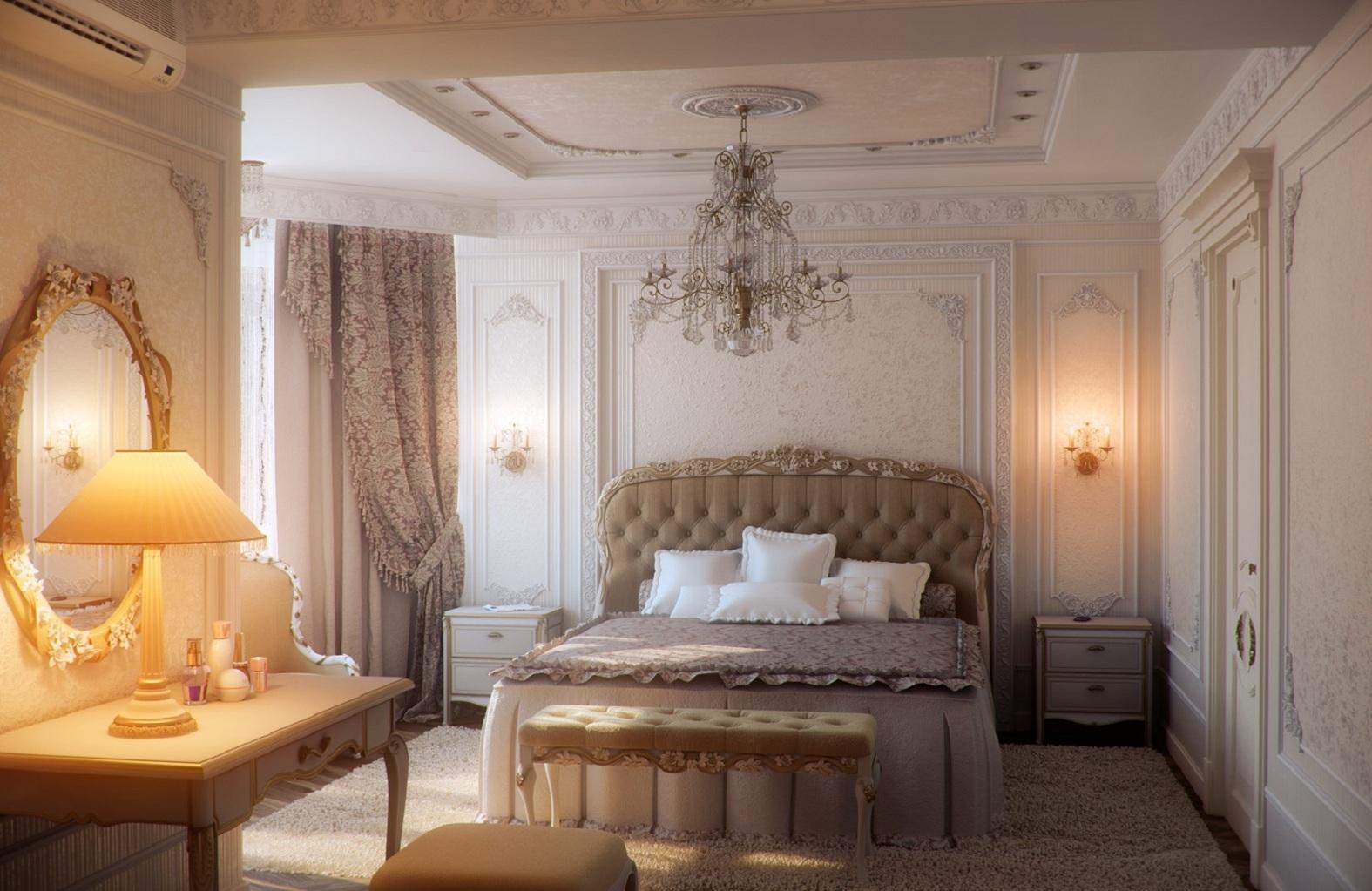 Интерьер фото спальни шикарной