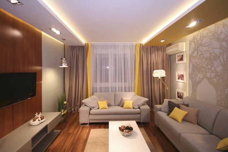 Дизайн комнаты гостиной 13 кв.м