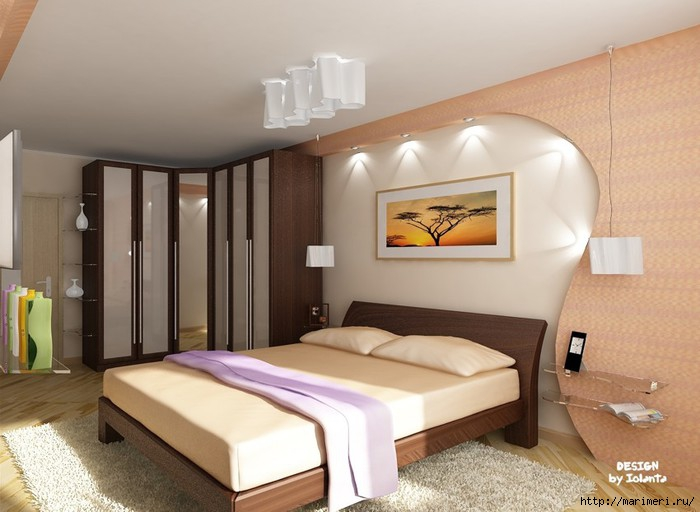 Спальня дизайн 20 квм