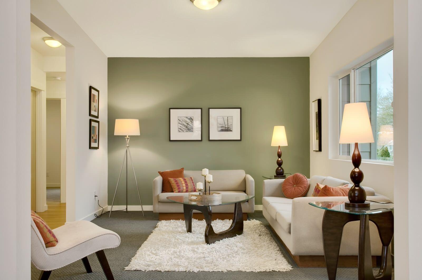 Дизайн цвет стен в гостиной фото