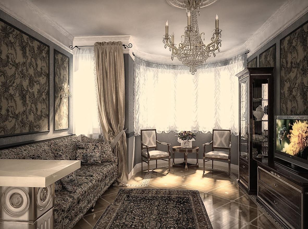 Интерьер гостиной в квартире в классическом стиле фото