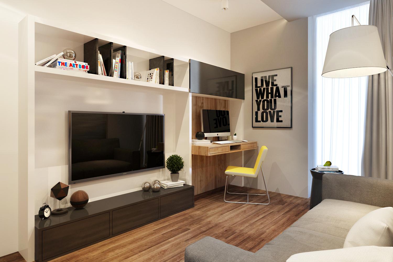 Дизайн комнаты на 12 квадратных метров
