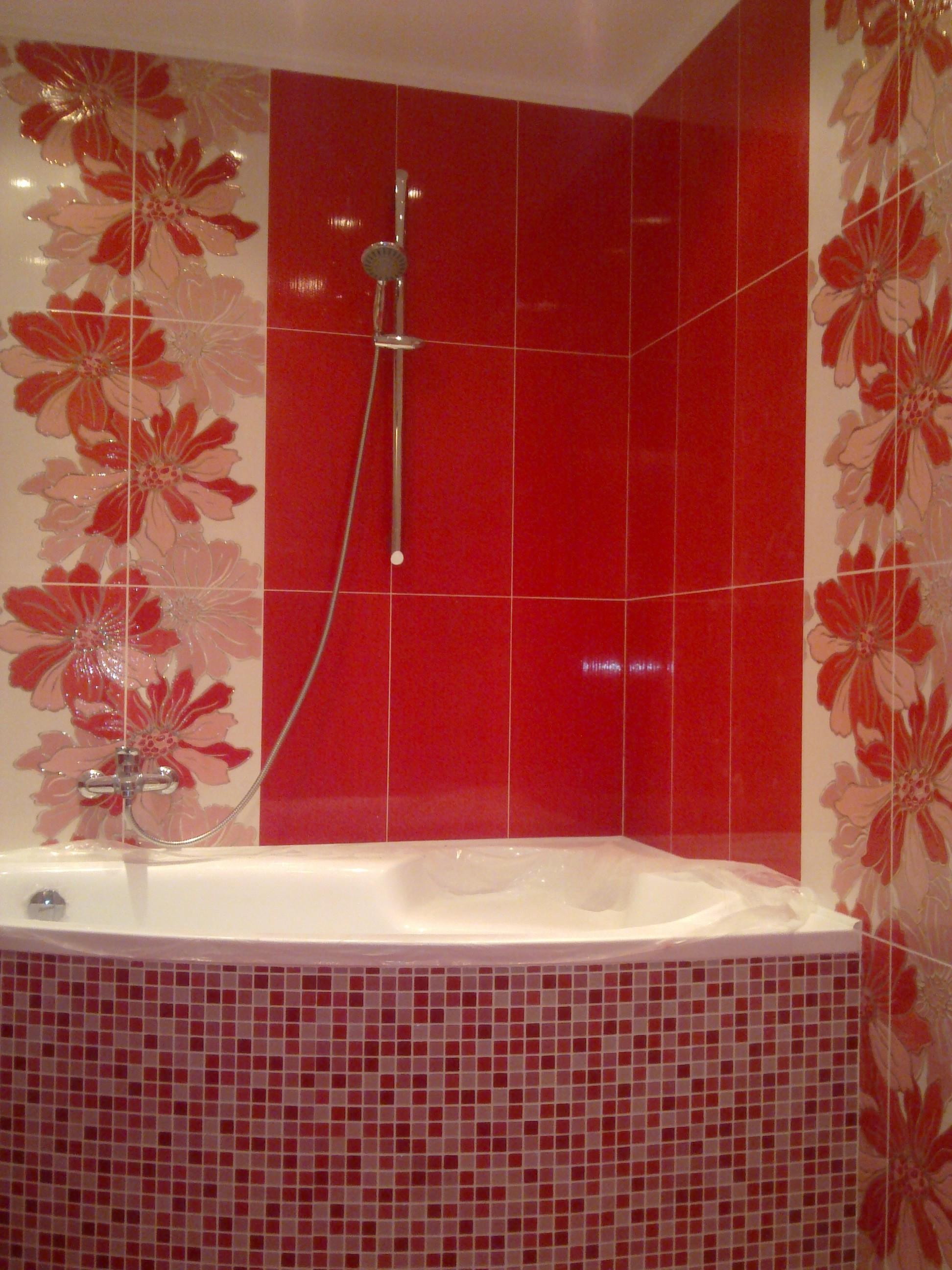 Как красиво сделать плитку в ванной комнате фото