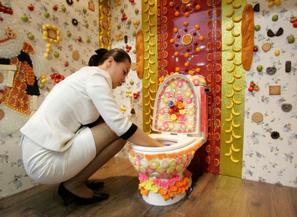 Как украсит туалет своими руками