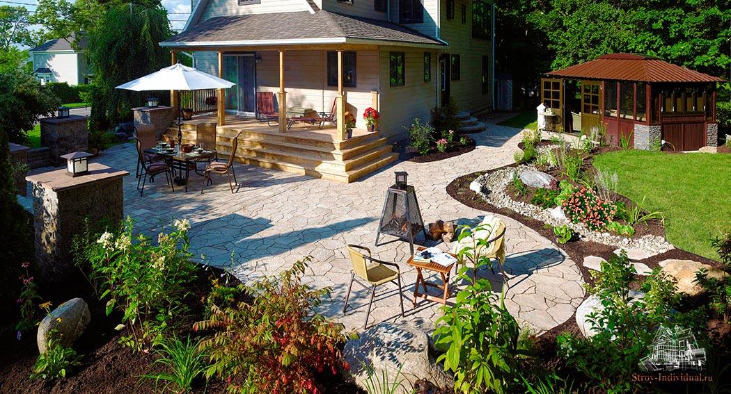 Как благоустроить небольшой двор частного дома своими руками