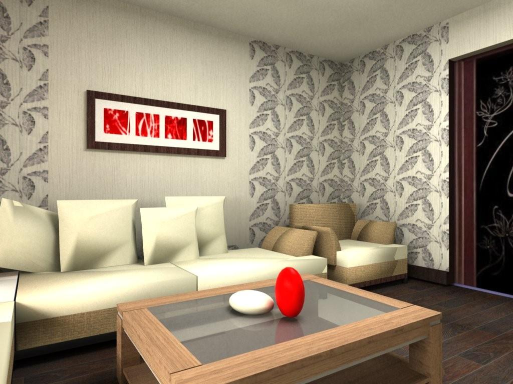 Скомбинировать обои в гостиной фото интерьеры