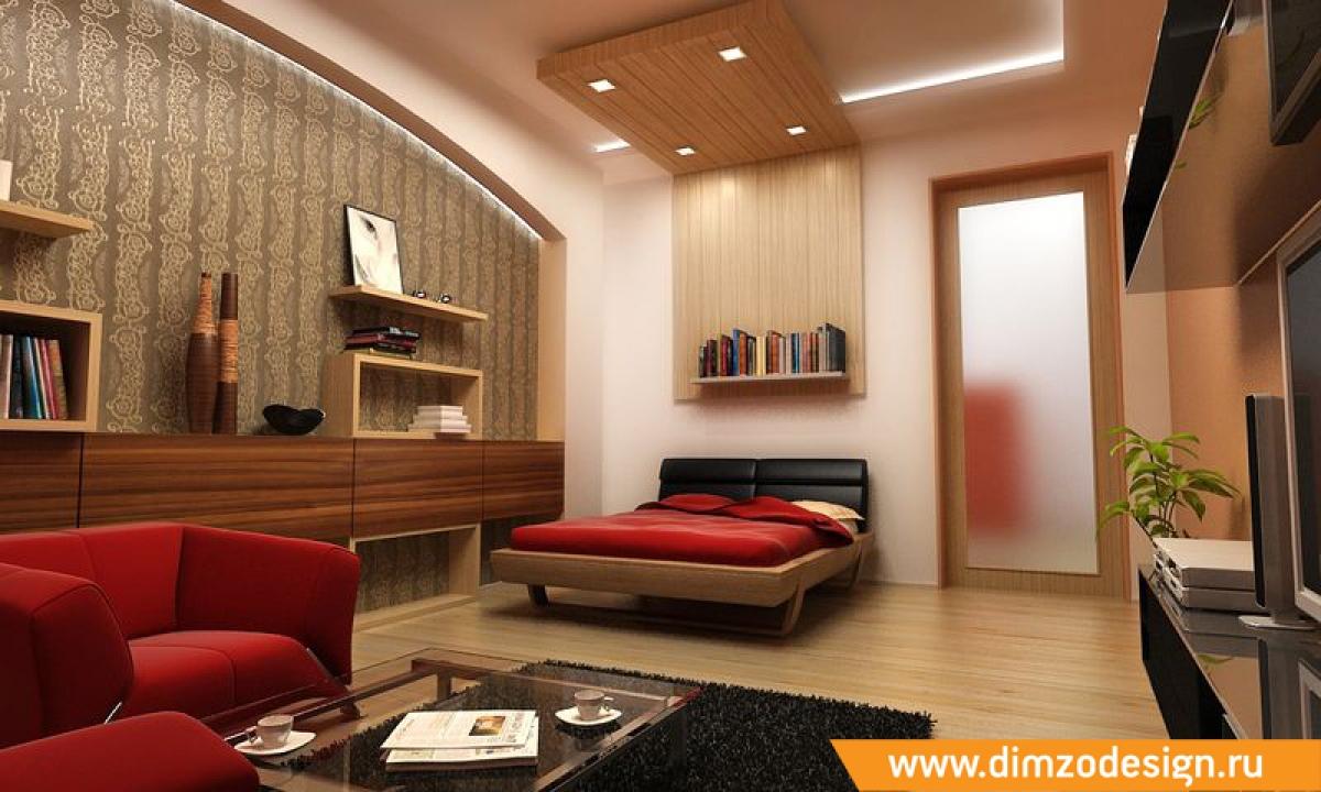 Дизайн современного зала и спальни