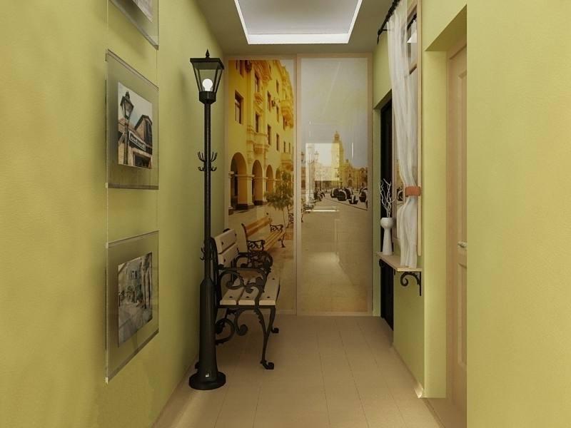 Интерьеры фотообои прихожая коридор