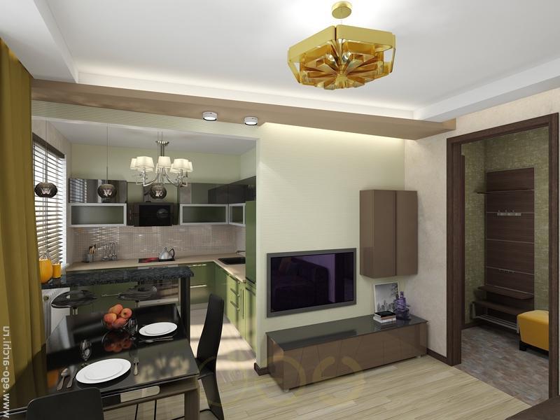 Дизайн кухни с залом в хрущевке
