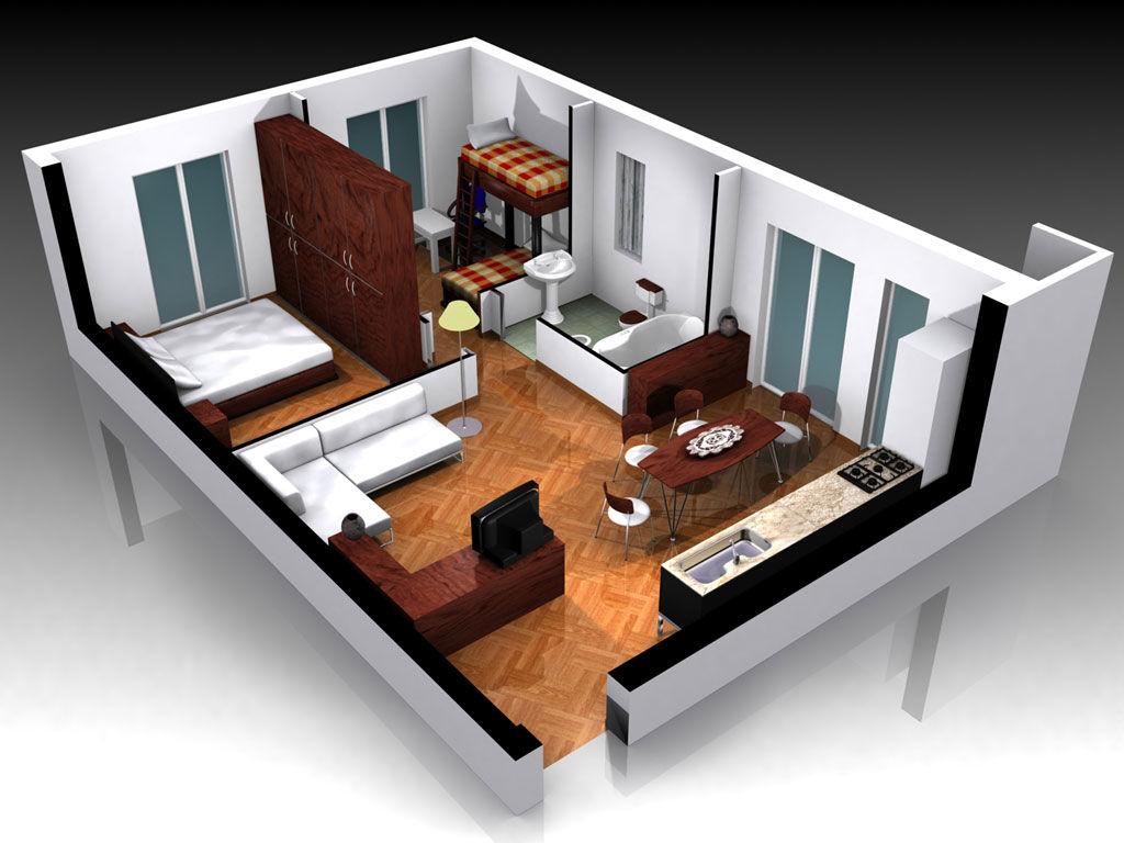 Дизайн квартиры в три д