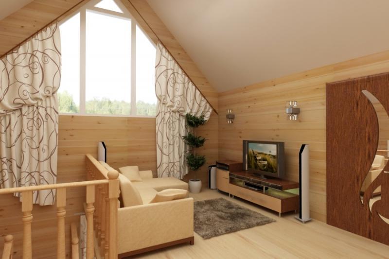 Дачный домик интерьер с вагонкой фото