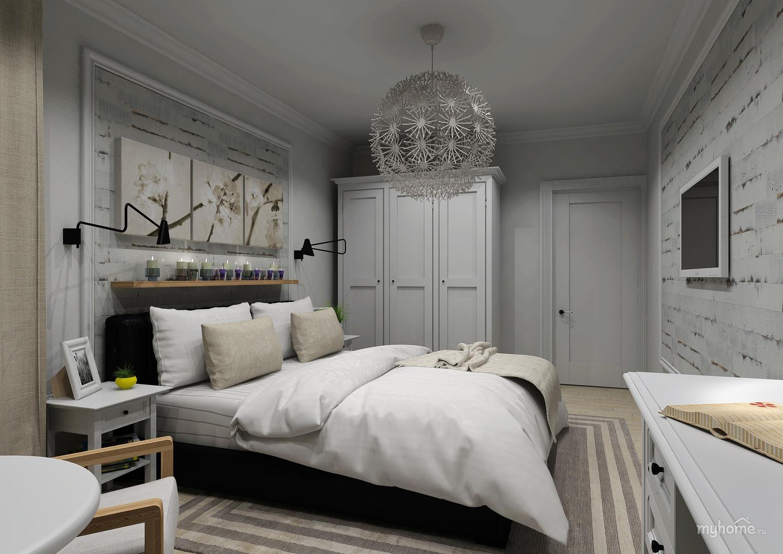 Интерьер спальни икеа фото