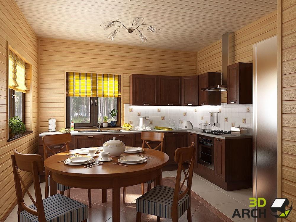 Проект кухни дизайн в частном доме