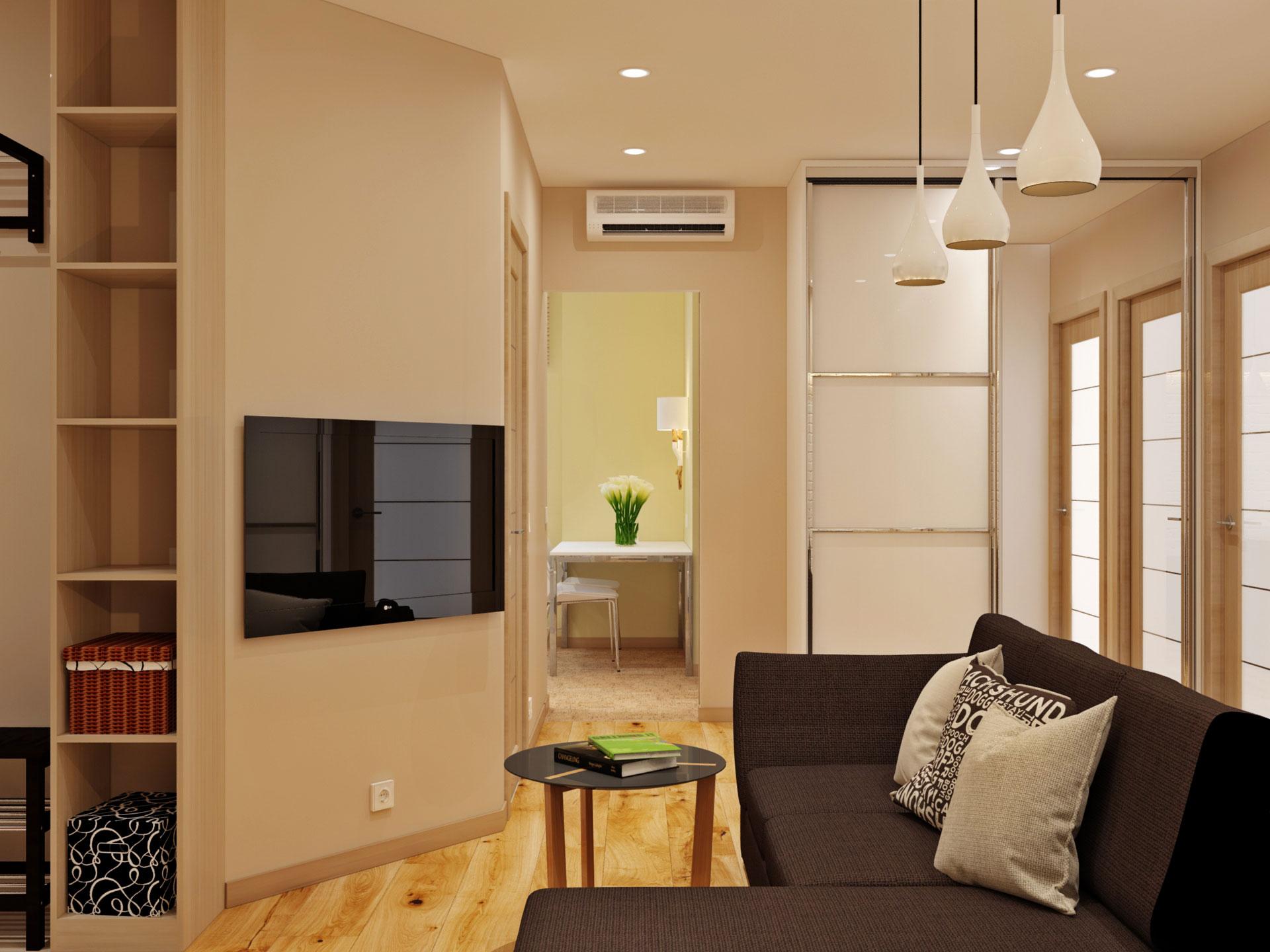 Классический дизайн двухкомнатной квартиры 50 квм