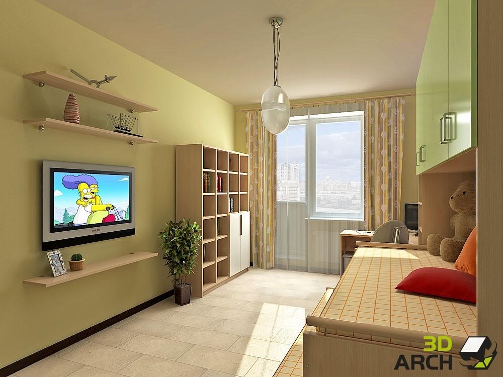 Проекты дизайна интерьера комнаты 18 квм.