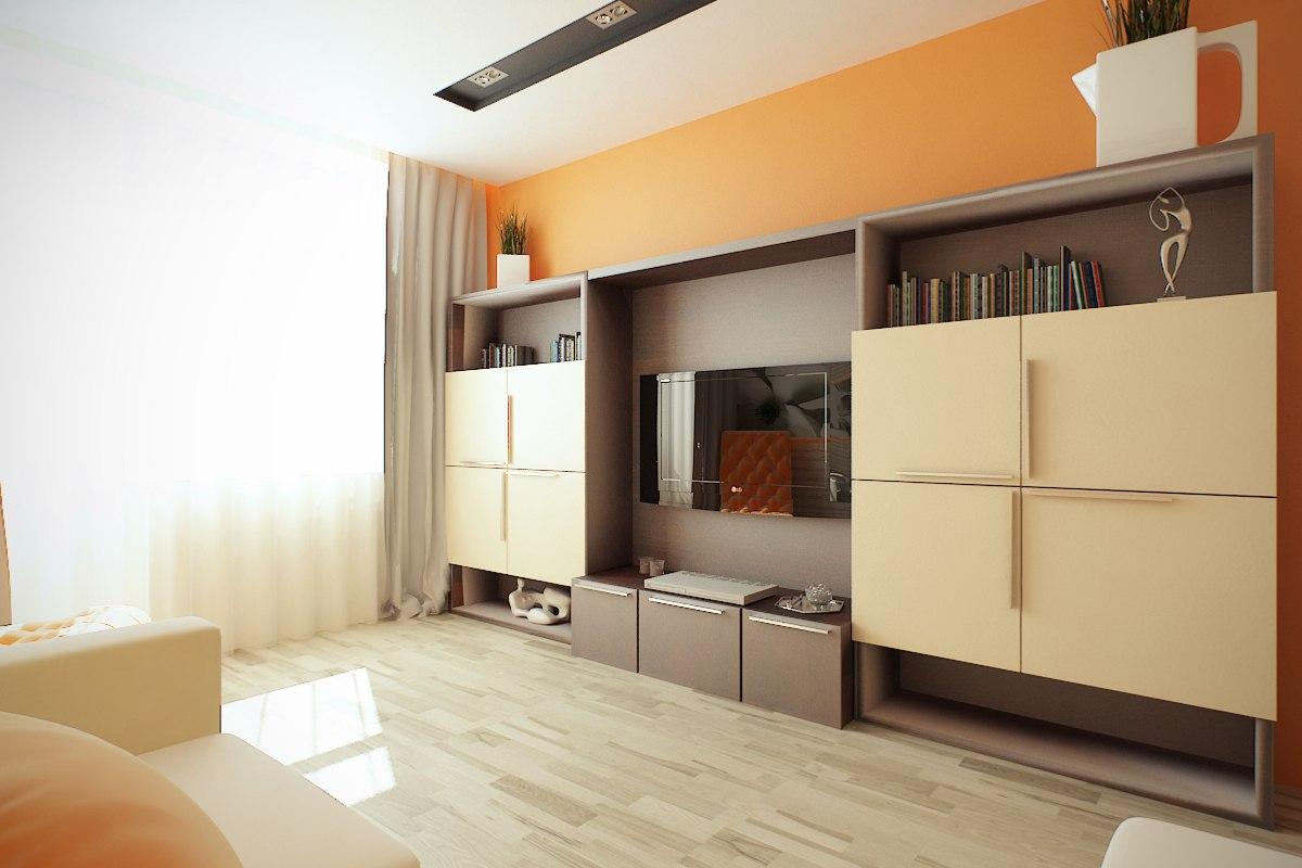 Классический дизайн однокомнатной квартиры 45 квм