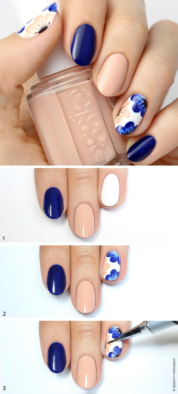 Шеллак дизайн на короткие ногти пошагово