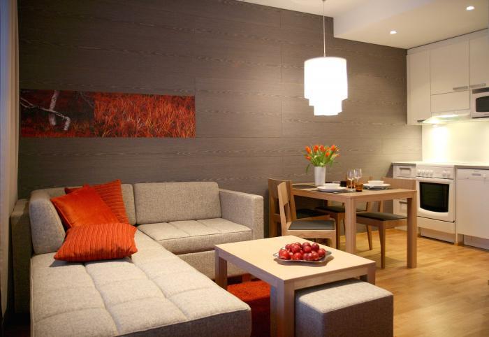 И кухня и спальня все в одной комнате дизайн