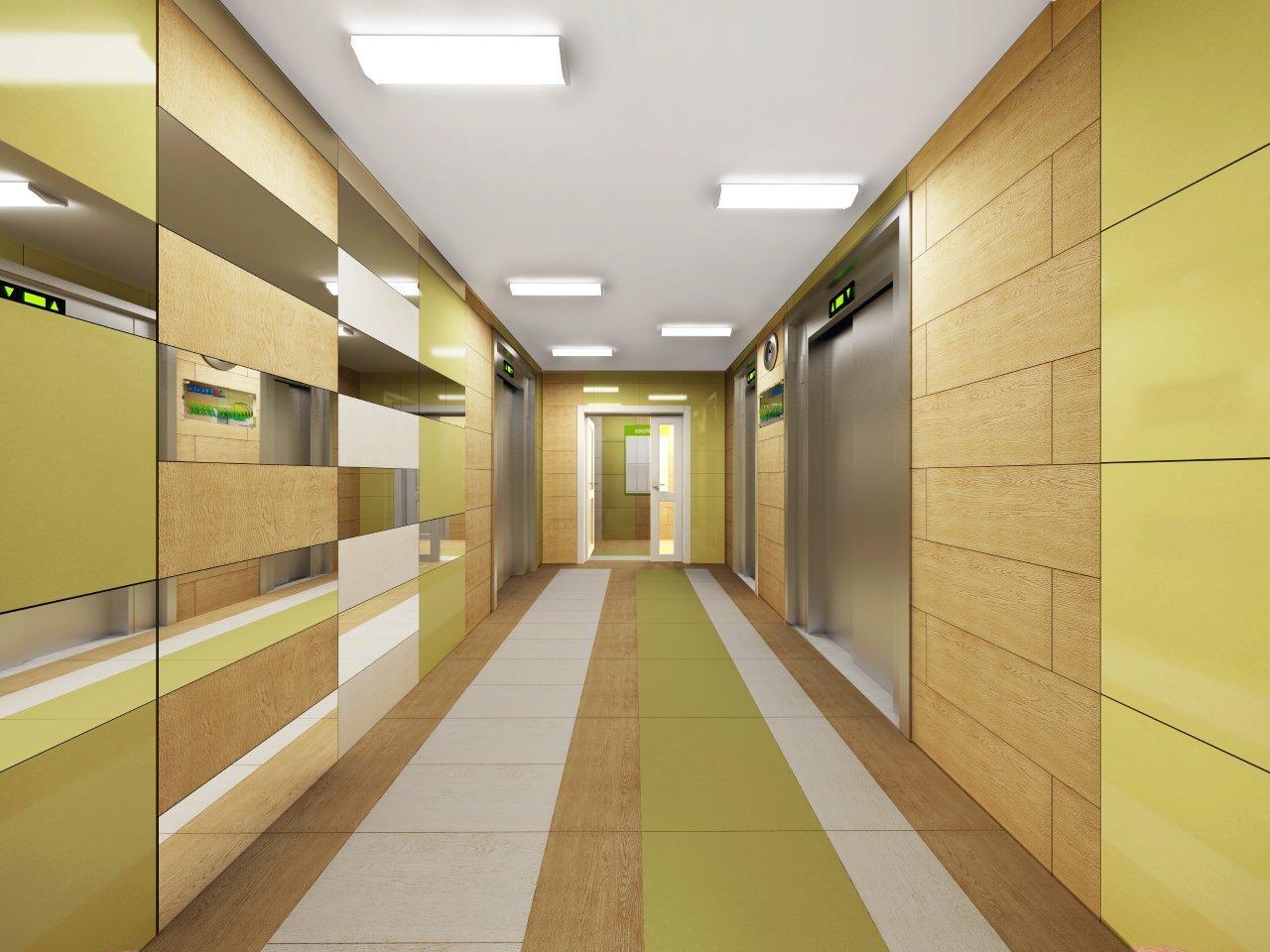 Дизайн общего коридора на площадке фото