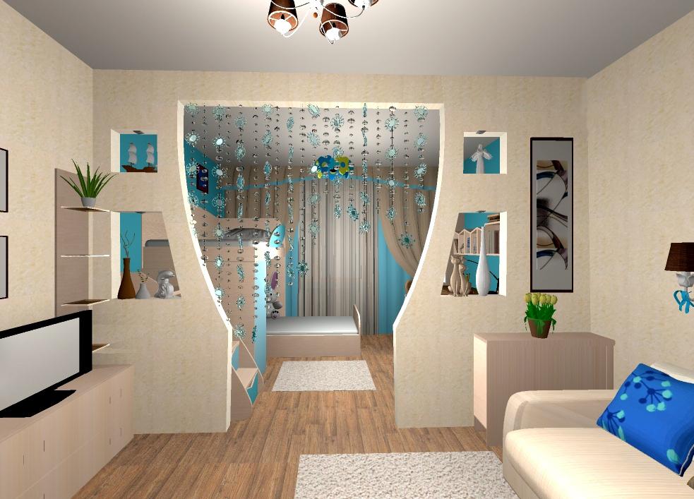 Детские комнаты с перегородкой дизайн
