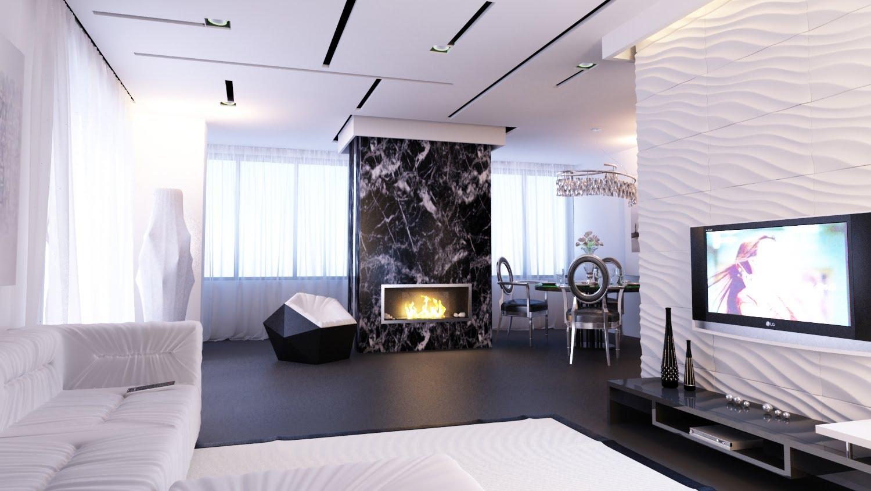 Дизайны однокомнатных квартир в стиле модерн