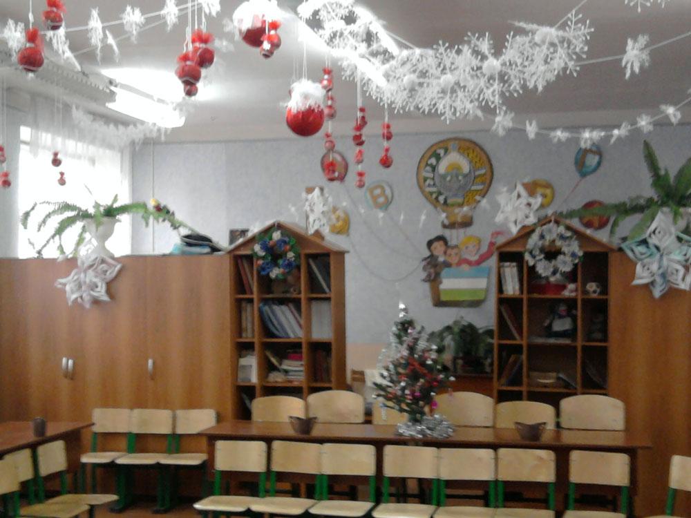 Как украсить школьного кабинета на новый год