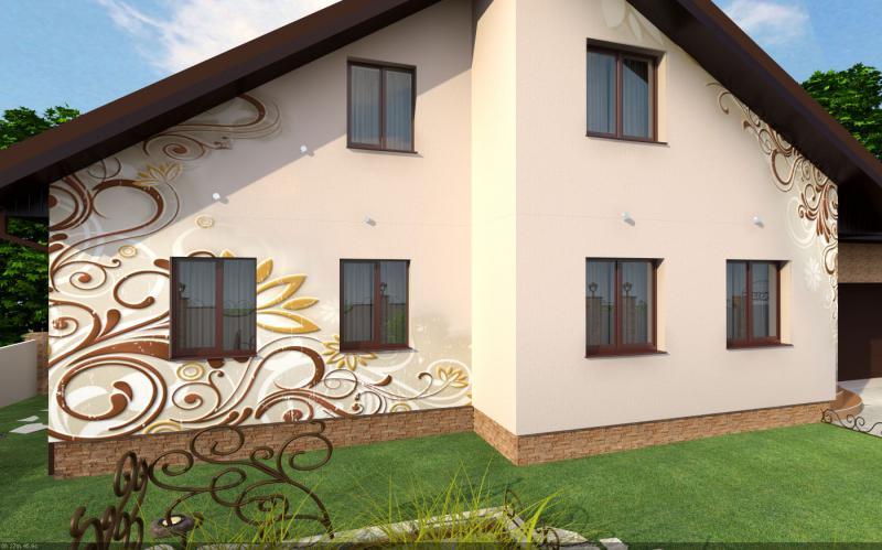 Как украсить фасад дома своими руками 135