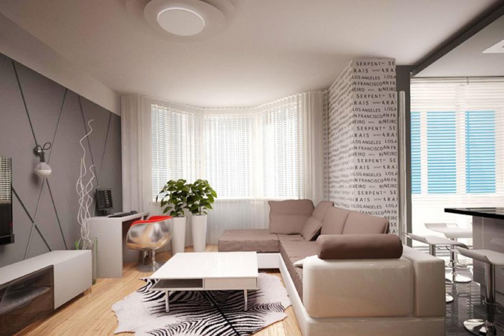 Дизайн интерьера типовой 3 ком квартиры