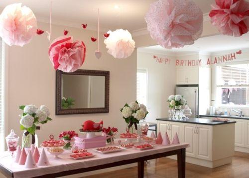 Украшения для комнаты на день рождения маме своими руками