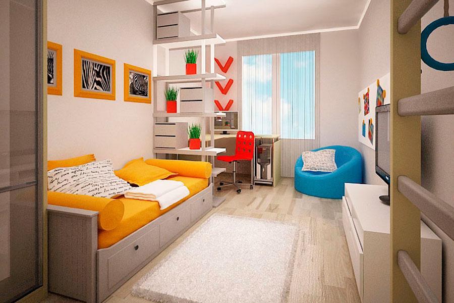 Интерьер комнаты для школьника девочки фото