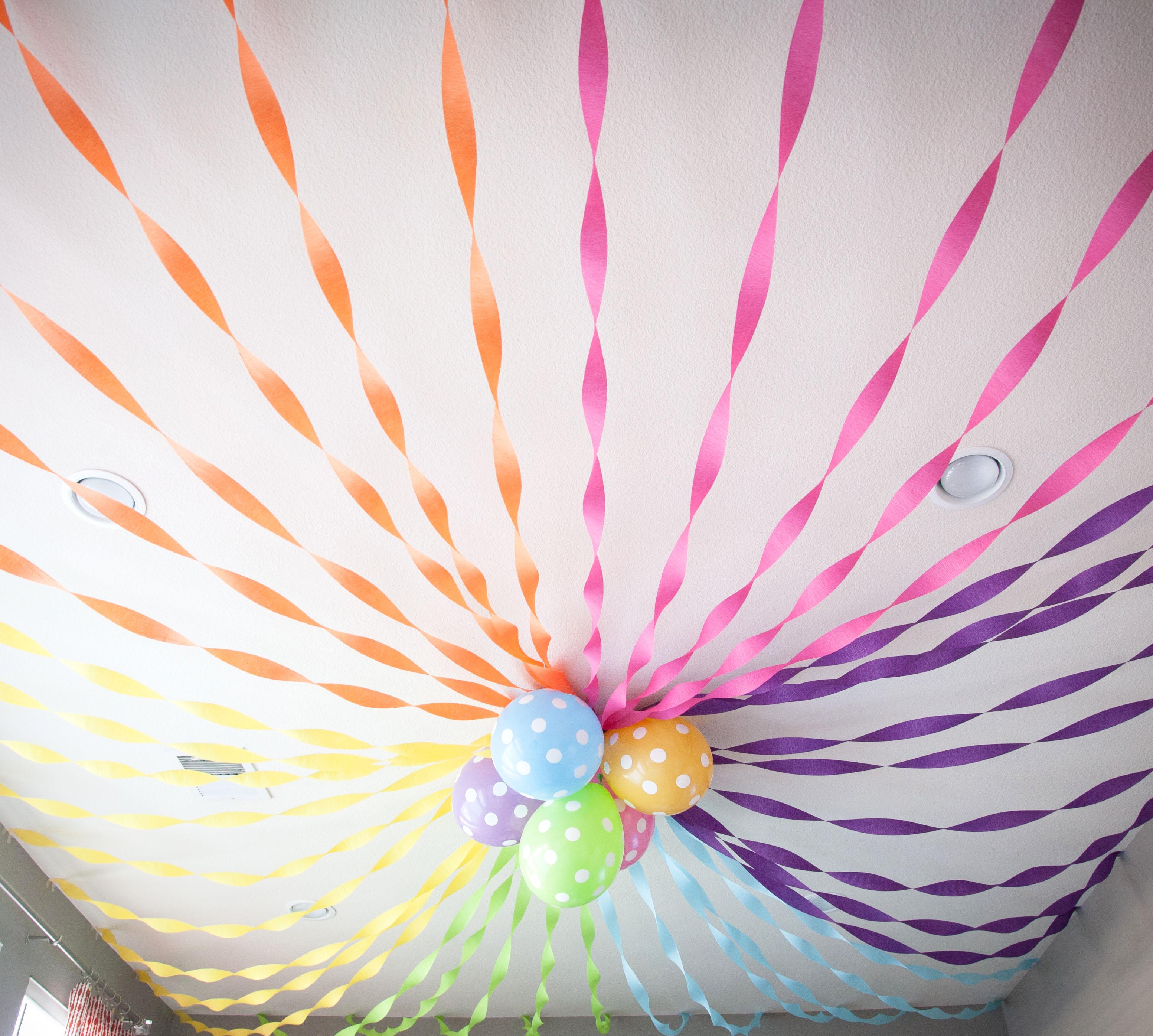 Украсить комнату на день рождения своими руками на юбилей