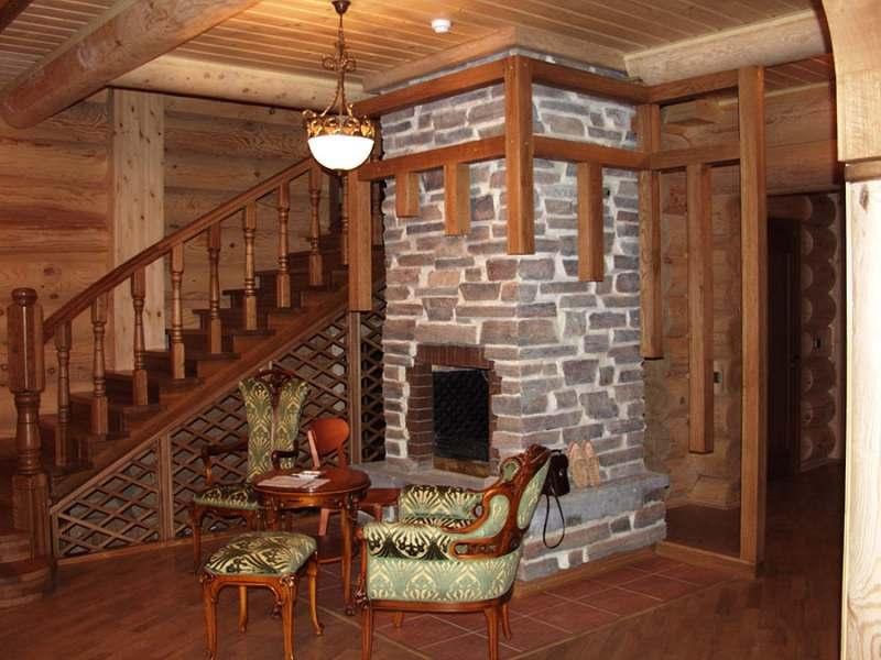 Интерьер деревянного дома внутри своими руками