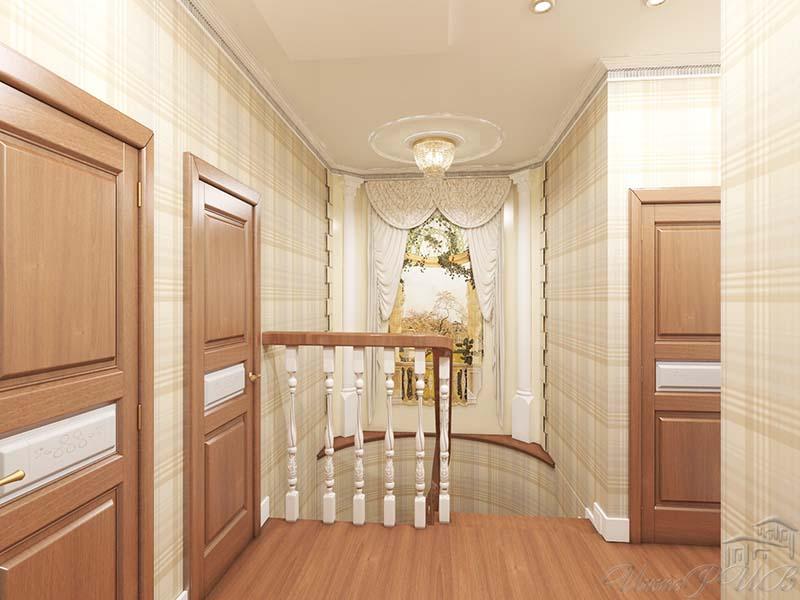 Дизайн коридор на втором этаже